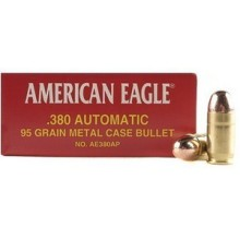 380 FEDERAL ACP 95 GRAIN #AE380AP (1000 ROUNDS)