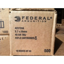 5.7X28MM FEDERAL AMERICAN EAGLE 40 GRAIN TMJ (500 ROUNDS)
