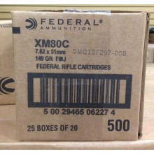 7.62x51MM FEDERAL 149 GRAIN FULL METAL JACKET (500 ROUNDS)