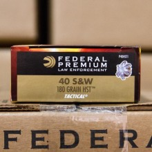 .40 S&W FEDERAL HST 180 GRAIN JHP (50 ROUNDS)