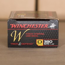 .380 ACP WINCHESTER TRAIN & DEFEND 95 GRAIN JHP (20 ROUNDS)