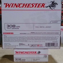 308 WIN WINCHESTER 147 GRAIN FMJ (20 ROUNDS)