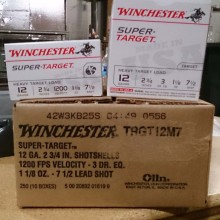"12 GAUGE WINCHESTER SUPER TARGET 2-3/4"" #7.5 (25 ROUNDS)"