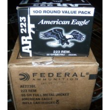 .223 REMINGTON FEDERAL AMERICAN EAGLE 55 GRAIN FULL METAL JACKET (500 ROUNDS)