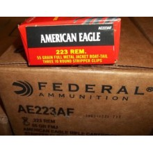 .223 REMINGTON FEDERAL AMERICAN EAGLE 55 GRAIN FMJ-BT (30 ROUNDS)