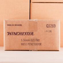 5.56 NATO WINCHESTER M855 62 GRAIN FMJ (1000 ROUNDS)