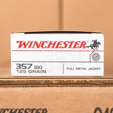 357 SIG WINCHESTER USA 125 GRAIN FULL METAL JACKET (50 ROUNDS)
