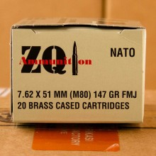 7.62X51MM ZQI 147 GRAIN FMJ M80 (20 ROUNDS)