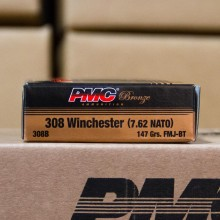 .308 WINCHESTER PMC BRONZE 147 GRAIN FMJ (20 ROUNDS)