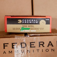 308 Federal Premium Sierra Match King Gold Medal 168 gr HPBT (20 Rounds)