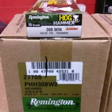 .308 WINCHESTER REMINGTON HOG HAMMER 168 GRAIN TSX (20 ROUNDS)