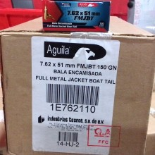 7.62 NATO AGUILA 150 GRAIN FMJ-BT (20 ROUNDS)