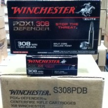 .308 WINCHESTER SUPREME ELITE PDX1 120 GRAIN JHP (20 ROUNDS)
