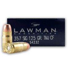 .357 SIG 125 GRAIN TMJ by SPEER LAWMAN #54232 (1000 ROUNDS)