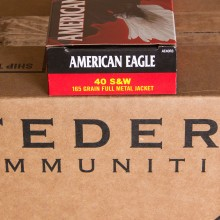 .40 S&W FEDERAL AMERICAN EAGLE 165 GRAIN FMJ (50 ROUNDS)