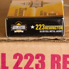 223 REMINGTON ARMSCOR USA 55 GRAIN FMJ (20 ROUNDS)