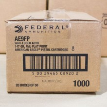 9MM FEDERAL 147 GRAIN FULL METAL JACKET (1000 ROUNDS)
