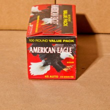 .45 ACP FEDERAL AMERICAN EAGLE 230 GRAIN FMJ (100 ROUNDS)