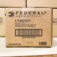 .45 ACP +P FEDERAL HST 230 GRAIN JHP (1000 ROUNDS)