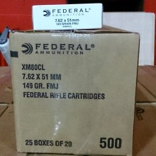 7.62X51MM FEDERAL 149 GRAIN FMJ (20 ROUNDS)