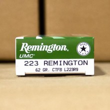 223 REMINGTON UMC 62 GRAIN CTFB (200 ROUNDS)