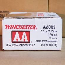 "12 GAUGE 2-3/4"" WINCHESTER SPORT CLAY 1-1/8 OZ  #9 AA (250 ROUNDS)"