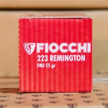 223 REMINGTON FIOCCHI 55 GRAIN FULL METAL JACKET (50 ROUNDS)