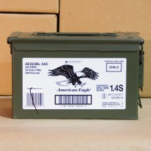 223 REM FEDERAL AMERICAN EAGLE 55 GRAIN FMJBT (500 ROUNDS)