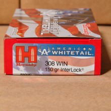 .308 WINCHESTER HORNADY AMERICAN WHITETAIL 150 GRAIN SP (20 ROUNDS)0
