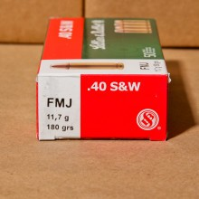 .40 S&W SELLIER & BELLOT 180 GRAIN FMJ (50 ROUNDS)