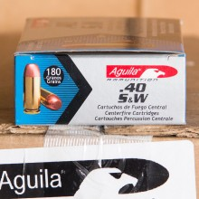 40 S&W AGUILA 180 GRAIN FULL METAL JACKET (50 ROUNDS)