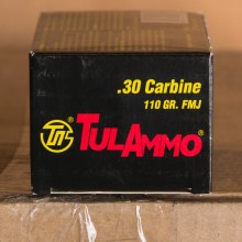 30 CARBINE TULA 110 GRAIN FMJ (50 ROUNDS)