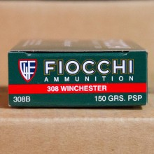 .308 WINCHESTER FIOCCHI SHOOTING DYNAMICS 150 GRAIN PSP (20 ROUNDS)