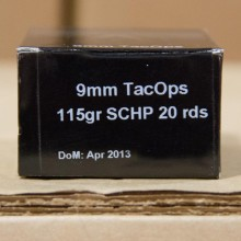 9MM LUGER PNW ARMS TACOPS 115 GRAIN SCHP (20 ROUNDS)