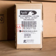 30 CARBINE AGUILA 110 GRAIN FULL METAL JACKET  (1000 ROUNDS)