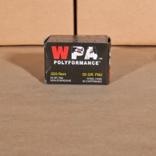 .223 REMINGTON WOLF WPA POLYFORMANCE 55 GRAIN FMJ (20 ROUNDS)