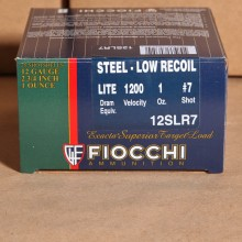 "12 GAUGE FIOCCHI LOW RECOIL STEEL 2-3/4"" #7 SHOT (25 ROUNDS)"