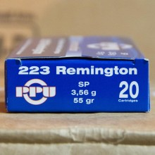 .223 REMINGTON PRVI PARTIZAN 55 GRAIN SP (20 ROUNDS)