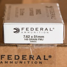 7.62 NATO FEDERAL LAKE CITY M80 BALL 149 GRAIN FMJ (20 ROUNDS)